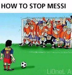 Wystarczy stanąć całą jedenastką piłkarzy w bramce • Jak zatrzymać Lionela…