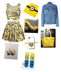 Minion crazy by mqweber on Polyvore featuring polyvore, fashion, style, Steve J & Yoni P, ASOS and claire's