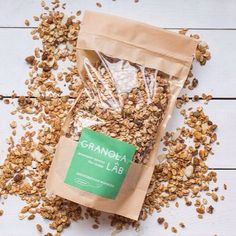 Granola Lab #granolapackaging #kraftpackaging curated by Copious Bags™
