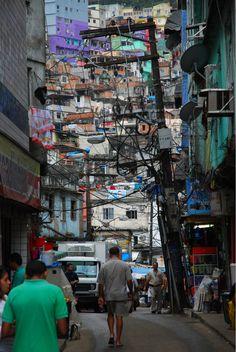 Favela, Rio by Favelas Brazil, Foto Do Goku, London View, Slums, City Streets, Urban Landscape, Places Around The World, South America, Central America