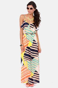 Tall It a Day Print Maxi Dress at LuLus.com!