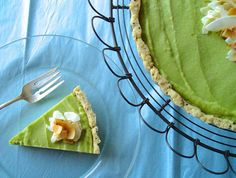 Avocado Lime Tart | There are lots of tasty desserts to enjoy on a low sugar diet like the Candida diet. This tart crust can be used with many different combinations of ingredients, but one of my favorites is an avocado lime tart.