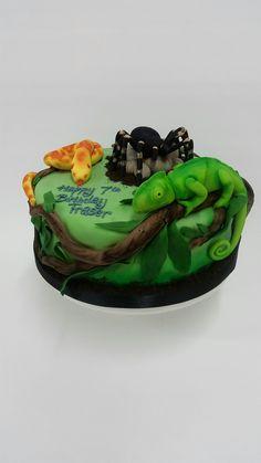 Reptiles Birthday Cake