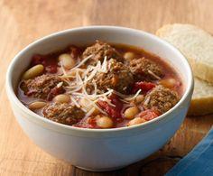 Slow-Cooker Italian Meatball Soup ~ Slow Cooker Taste