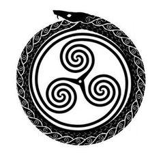 Tattoo ouroboros uroboro triskele infinity