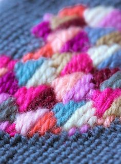 wool tapestry stitching by Anna Maria Horner