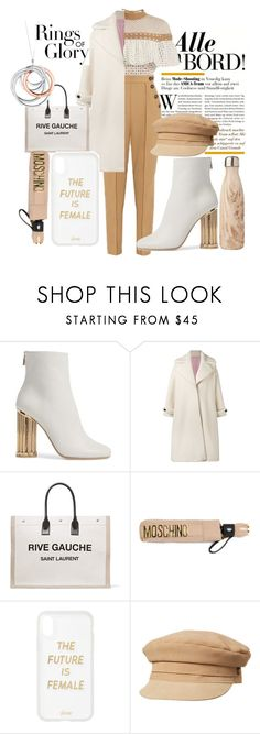 """""""why"""" by crystalmendes on Polyvore featuring Salvatore Ferragamo, Olympia Le-Tan, Yves Saint Laurent, Moschino, Sonix, Lack of Color and Tiffany & Co."""