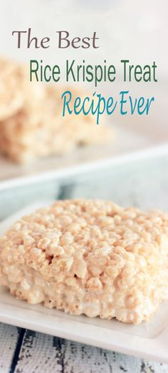 The Best Rice Krispie Treat Recipe Ever