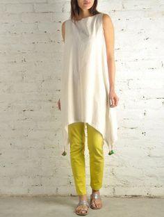 Curve Hem Khadi Cotton Tunic