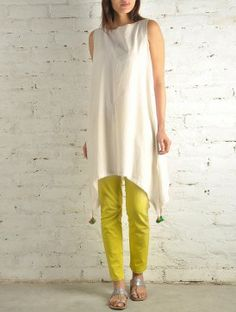 Curve Hem Khadi Cotton Tunic