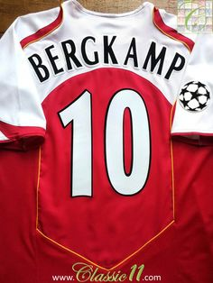 2592abe57 Relive Dennis Bergkamp s 2004 2005 Champions League with this Vintage Nike  Arsenal home football shirt