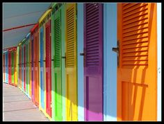 colorful doors!