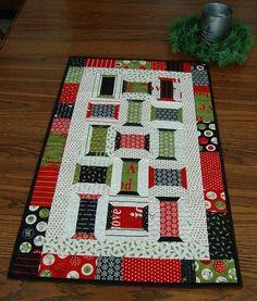 primitive quilt patterns   Primitive Quilt Table runner Pattern Spool by PrimitiveQuilting, $9.00