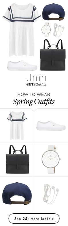"""""""Spring Outfit Inspired by Jimin"""" by btsoutfits on Polyvore featuring Chicnova Fashion, O'Neill, Danielle Foster, Vans, Skagen, women's clothing, women, female, woman and misses"""