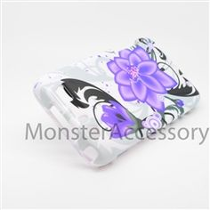 Click Image to Browse: $5.95 Violet Lily Hard Case Snap On Cover For Motorola Atrix 3 HD Dinara MB886