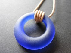 Recycled tumbled bottle necklace