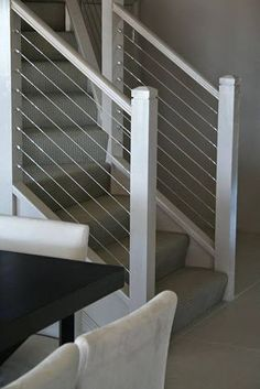 Stairs with stainless steel balustrades. #Stainless #Steel:
