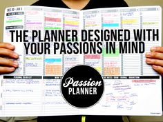 A Passion Planner is an all-in-one weekly appointment calendar, journal, goal setting guide, and to-do list log integrated in one handmade and durable faux-leather planner. It is a planner designed with your passions and personal goals in mind. To Do Planner, Passion Planner, Life Planner, 2015 Planner, Family Planner, Planner Layout, Weekly Planner, Planner Stickers, Printable Planner