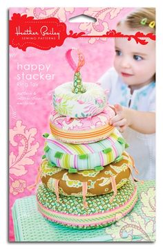 Heather Bailey Pattern  Happy Stacker Ring Toy