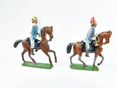 alte Zinnsoldaten Schwadron sächsische Garde REITER zu Pferd Heyde Dresden