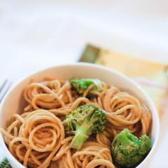 Stupidly Easy Peanut Noodles. I added shredded carrots, red peppers and baby corn. I also stir-fried the broccoli with these veggies after I boiled the broccoli. Top with Sriracha sauce for an extra kick!