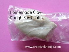 How To Make Dough For Handmade Jewelry & Crafts Making Homemade Clay, Homemade Crafts, Crafts To Make And Sell, Crafts For Kids, Jewelry Crafts, Handmade Jewelry, How To Make Dough, Paper Mache Clay, Paperclay