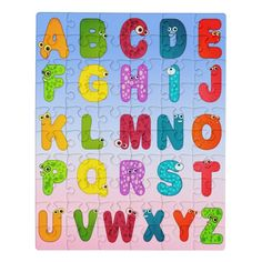 Monster Letters Animal Alphabet Jigsaw Puzzle - animal gift ideas animals and pets diy customize Animal Letters, Animal Alphabet, Cool Jigsaw Puzzles, Cartoon Monsters, Alphabet For Kids, Wooden Jigsaw, Childrens Gifts, Diy Stuffed Animals, Pet Gifts