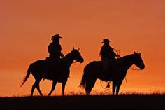 Zach and Summer (hero and heroine) horseback, sunset from @loreelough's ONCE A MARINE (releasing January 2015) #HarlequinHeartwarming #sweetromance
