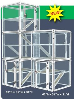Cat cages on pinterest cat enclosure cats and outdoor cats for Diy cat tree pvc pipe