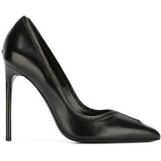 Tom Ford zip trim pumps (11.858.135 IDR) ❤ liked on Polyvore featuring shoes, pumps, black, kohl shoes, black leather pumps, black pumps, tom ford pumps and leather footwear