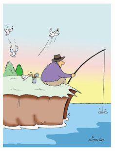 Nivaldo Cartuns: Pescaria...