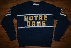 1980s Cliff Engle Notre Dame Sweater - this is a temp stock photo. I will be putting mine (cos its only a medium) up for sale someday..