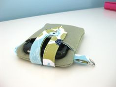 iPhone 5 Wallet Case Cover Wristlet Mini Pouch - Custom Size & Fabric. $35.00, via Etsy.