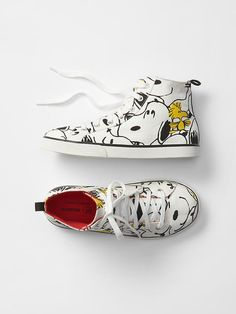 GapKids + Peanuts® Snoopy hi-top sneakers - The gangs all here! Catch the limited time GapKids + Peanuts® collection of cool classics and new favorites.