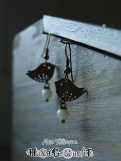 "Ohrringe antik bronze ""Vögelchen"""