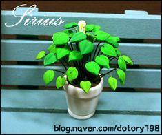칼라클레이 미니어쳐 스파트필름 만들기 - by 시리우스 : 네이버 블로그 polymer clay plant
