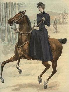 Riding Aside:  1900 Sidesaddle Suit Fashion Plate