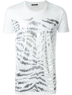 BALMAIN Zebra Print T-Shirt. #balmain #cloth #t-shirt