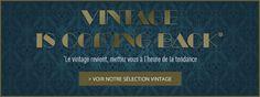 *Le vintage revient, mettez-vous à l'heure de la tendance