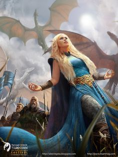 A Song Of Ice And Fire - Mother of Dragons -fanart