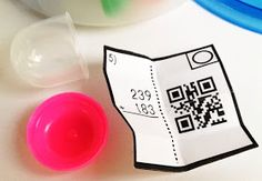Toy Capsules in the Classroom - stick QR Code problems in toy capsules to make learning more interesting.