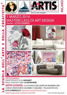 Maimeri Art Design Masterclass. Teacher Letizia Barbieri.