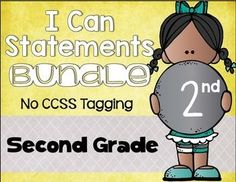 Use this 260 page resource with your second graders to help them understand EVERY language arts and math standard! It includes editable pages as well, so you can type in the wording you need.  Plus you get full page and half page printing options to fit the needs and space of your individual classroom display. Print & go! $