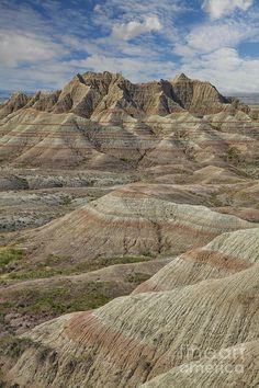 I know their called the badlands, but they look beautiful to me. I really want to go there! Badlands National Park, SD.