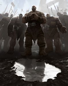 m Orc Barbarian Warrior male Army Wilderness ruins rain story Ogroidní Rasa med Fantasy Races, High Fantasy, Dark Fantasy Art, Fantasy Rpg, Medieval Fantasy, Fantasy Artwork, Fantasy World, Fantasy Inspiration, Character Inspiration