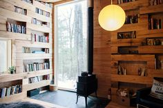 "prefabnsmallhomes: ""The ""Hemmelig Rom"", upstate New York by Studio Padron. Home Design, Cabin Design, Interior Design, Tiny House Movement, Upstate New York, Micro House, Tiny House Cabin, Wooden Cabins, Secret Rooms"