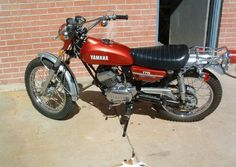 The motorcycle that I just sold... 1972 Yamaha Enduro. 125 cc.