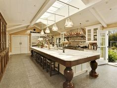 this is one big kitchen