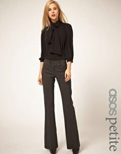 # slightly flared trousers # the column body type