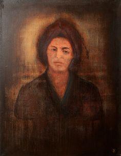 "Apostolis Itskoudis, ""Mirror"" (Καθρέφτης), acrylics on canvas, 70Χ90 cm, 2016."